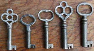Five Antique Furniture Keys Antique Cabinet Keys Antique Barrle Keys photo