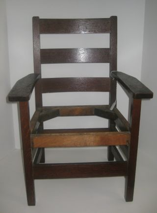 Antique Charles Stickley Childs Chair Branded Mark Mission Arts & Crafts photo