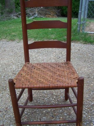 Antique Early Chairs Furniture Vintage House Decor Kitchen Ladder Back Chair photo