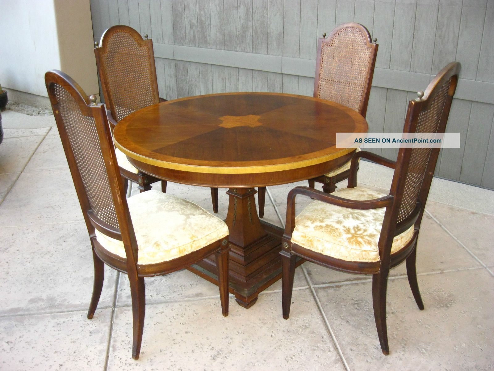 Vintage Mid Century Modern French Provincial Style Dining