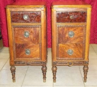 Set Of 2 Antique Three Drawer Dressers photo