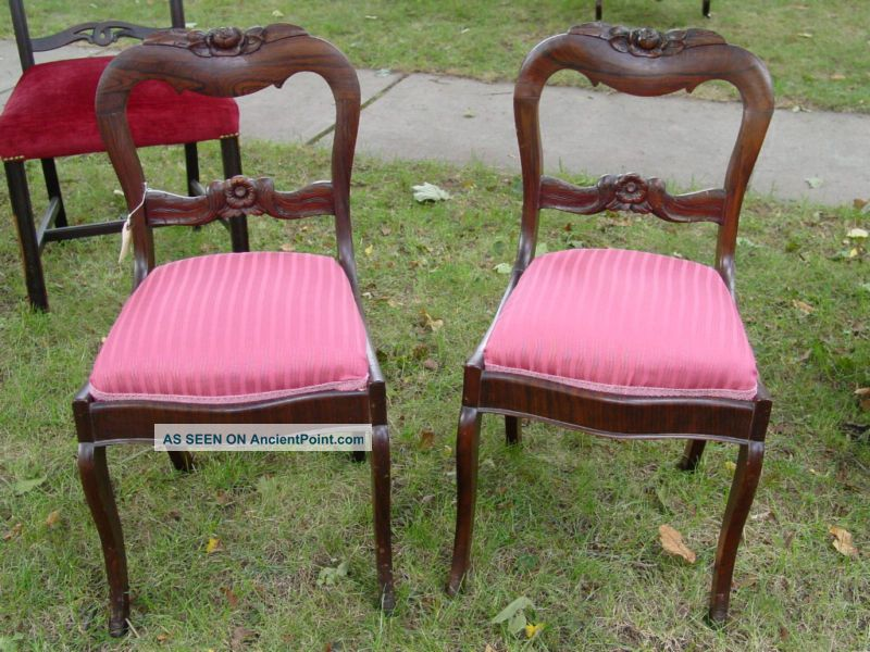 - Antique Rosewood Victorian Side Chairs. Pair Available