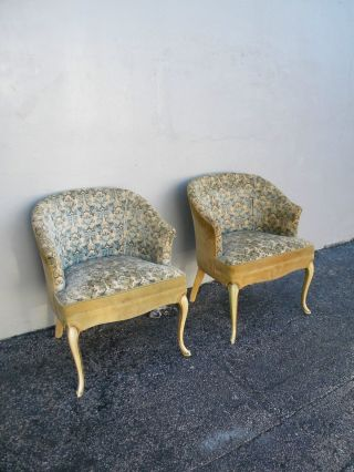 Pair Of French Painted Side By Side Chairs 2462 photo