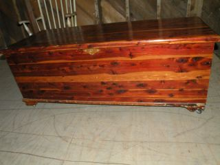 100 Year Old Antique Solid Cedar Bedroom Blanket Hope Chest photo