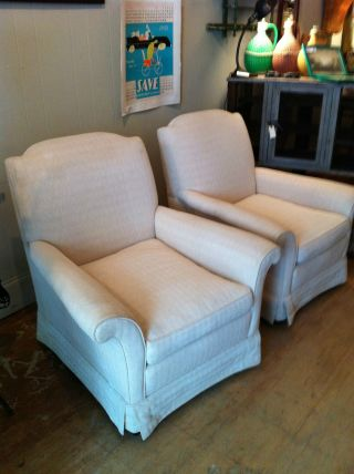 Vintage Mid Century Lounge Club Chairs Pair Delivery Available Nyc Area photo