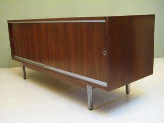 Mid Century Modern Credenza In Walnut // Vintage Sideboard Buffet 1960 ' S Storage photo
