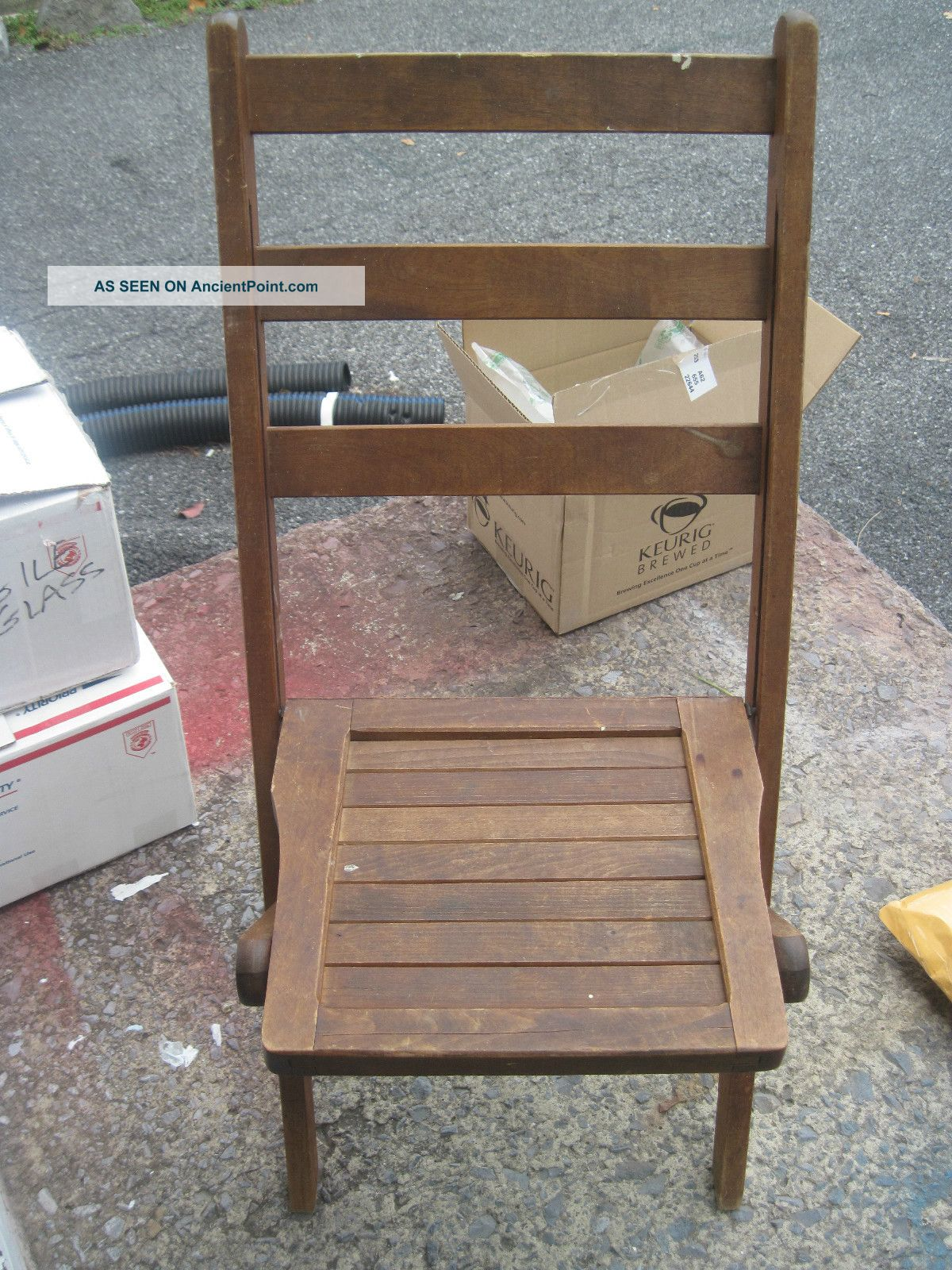 Vintage Wooden Folding Chairs Theater Chairs Church Assembly
