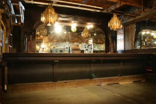 Antique Front And Back Bar By Chas.  Passow & Sons.  Turn Of The Century Chicago photo