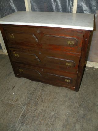 1800 ' S Antique Marble Top Bedroom Dresser Chest photo