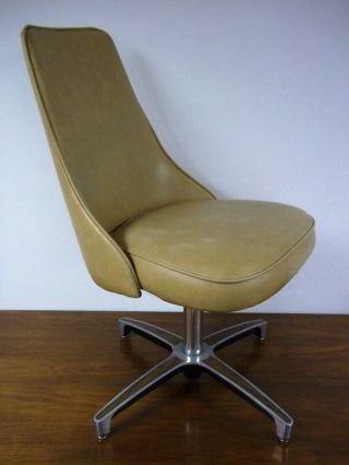 Chromcraft Mid - Century Modern Eames Style Cushion Scoop Chair Bucket Swivel photo