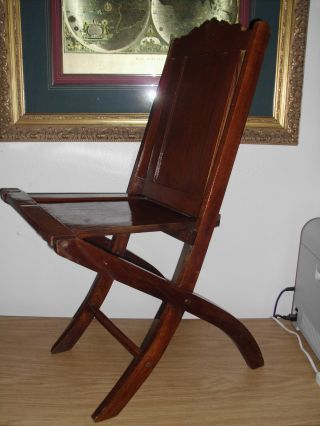 Unique Vintage Antique? Italian Folding Wood Chair - 2 Available photo