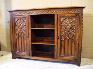 Gothic Bookcase French In Oak photo