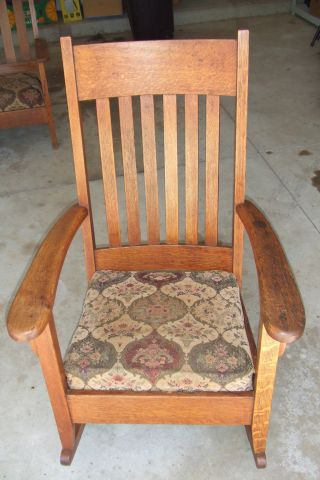 Antique Mission Rocking Chair - Collector Quality Early 1900 ' S Vg Cond photo