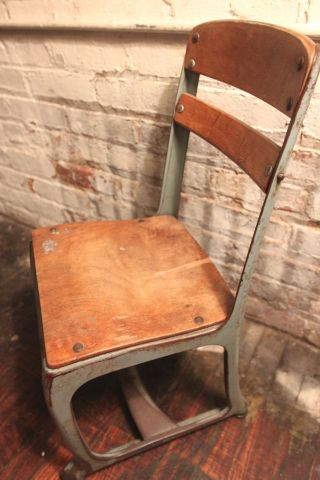 Mid Century Childs School Chair photo