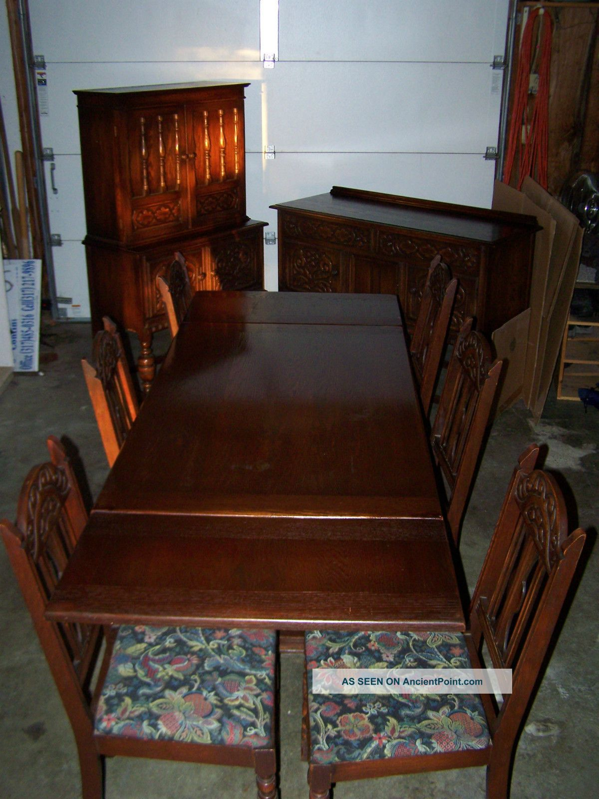 Antique Early 1900 \' S Bernhardt Furniture Company Dark Wood ...