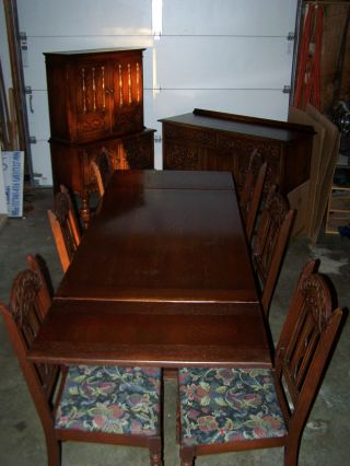Antique Early 1900 ' S Bernhardt Furniture Company Dark Wood Dining Room Suite photo