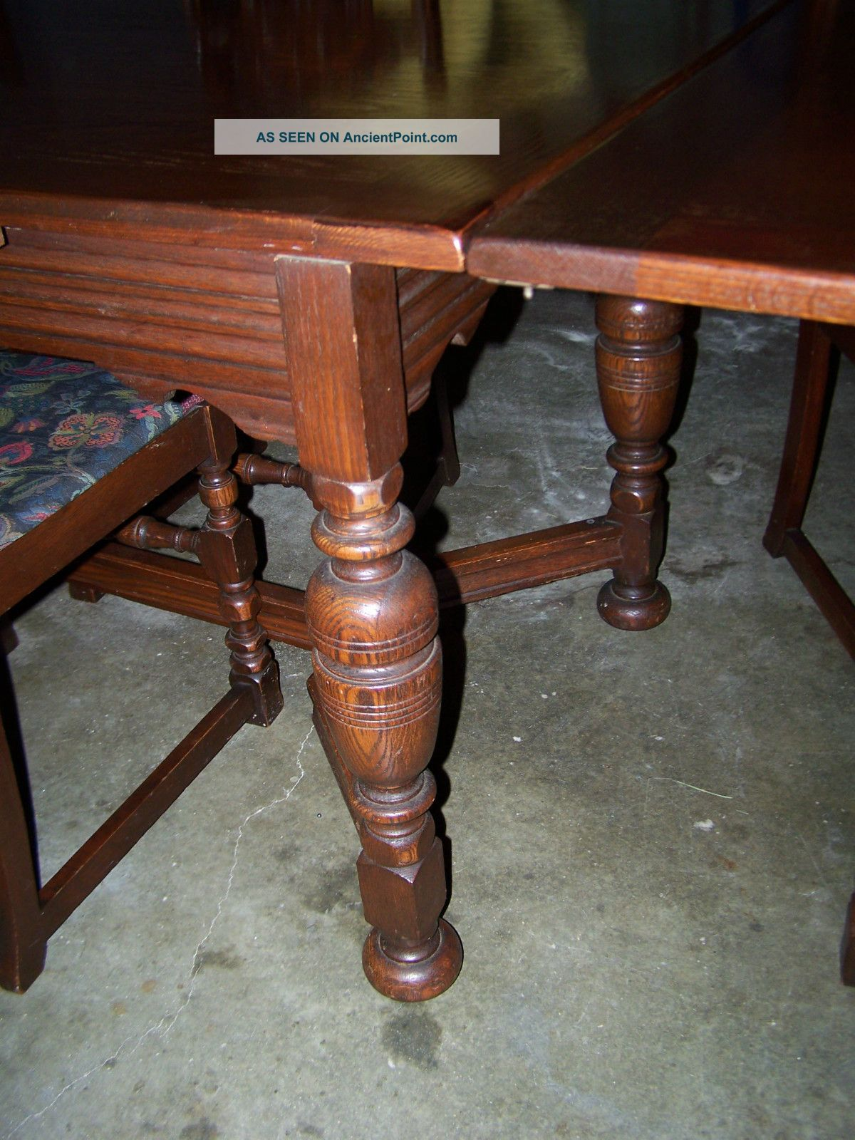 Antique Early 1900 S Bernhardt Furniture Company Dark Wood Dining