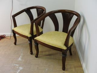 Pair Decorator Regency Fireside Chairs photo