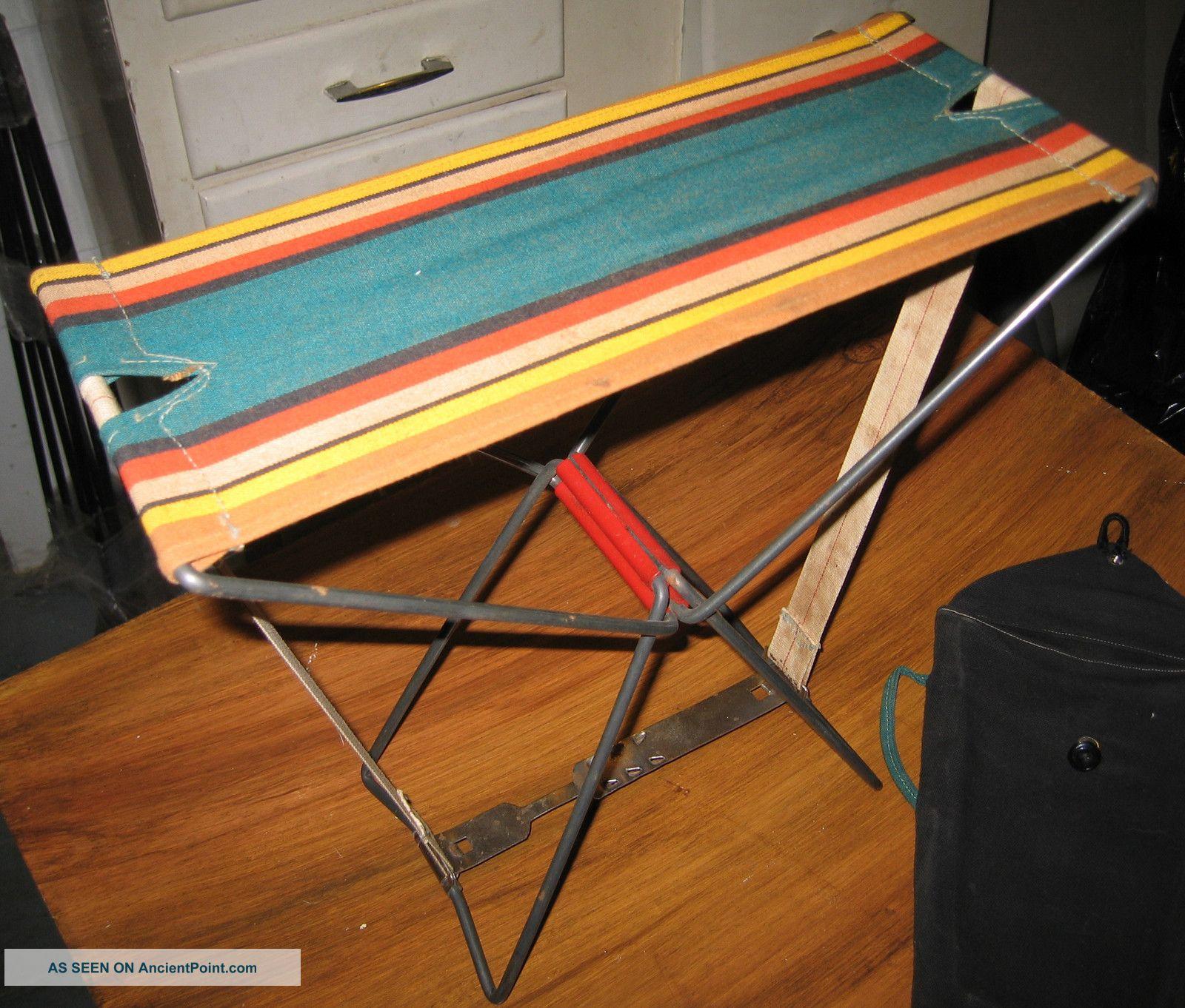 Vintage Portable Folding Camp Seat Unknown photo
