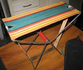 Vintage Portable Folding Camp Seat photo