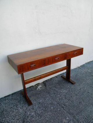 Mid - Century Walnut Writing Desk 2645 photo