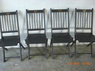 Chairs Oak Antique Folding Chairs photo