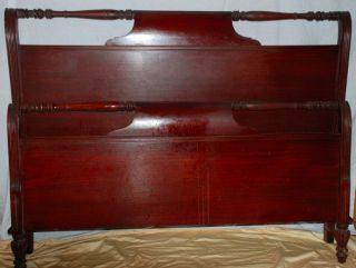 Mahogany Bed In Colonial - Revival Style C.  1930 - 1950 photo