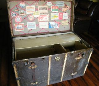 Vintage Antique Travel Trunk Chest 40