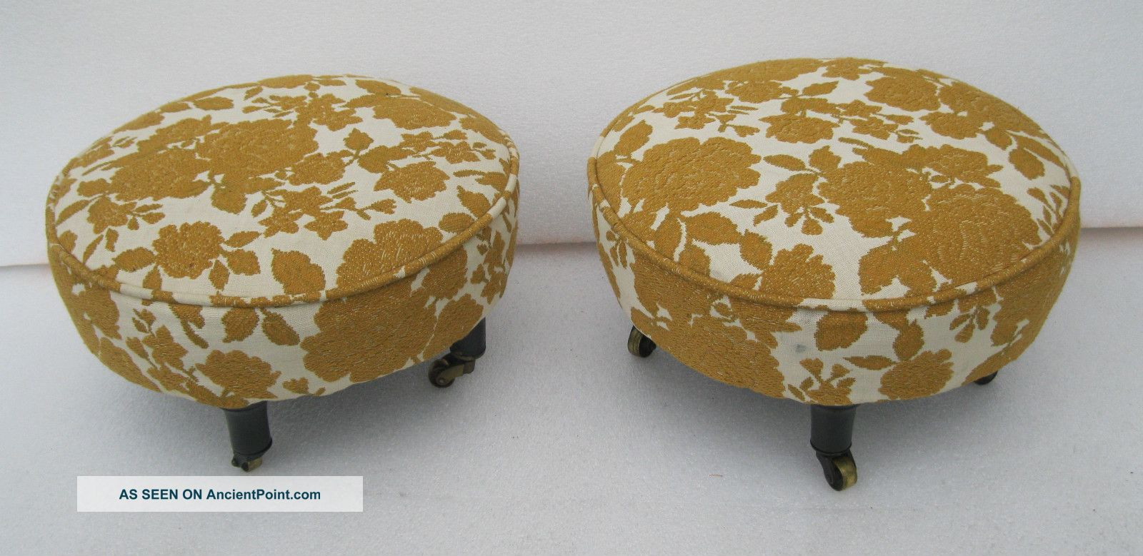 Pair Of Matching Antique Period 1800 ' S Foot Stools Post-1950 photo