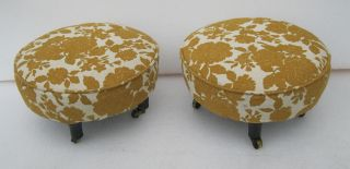 Pair Of Matching Antique Period 1800 ' S Foot Stools photo