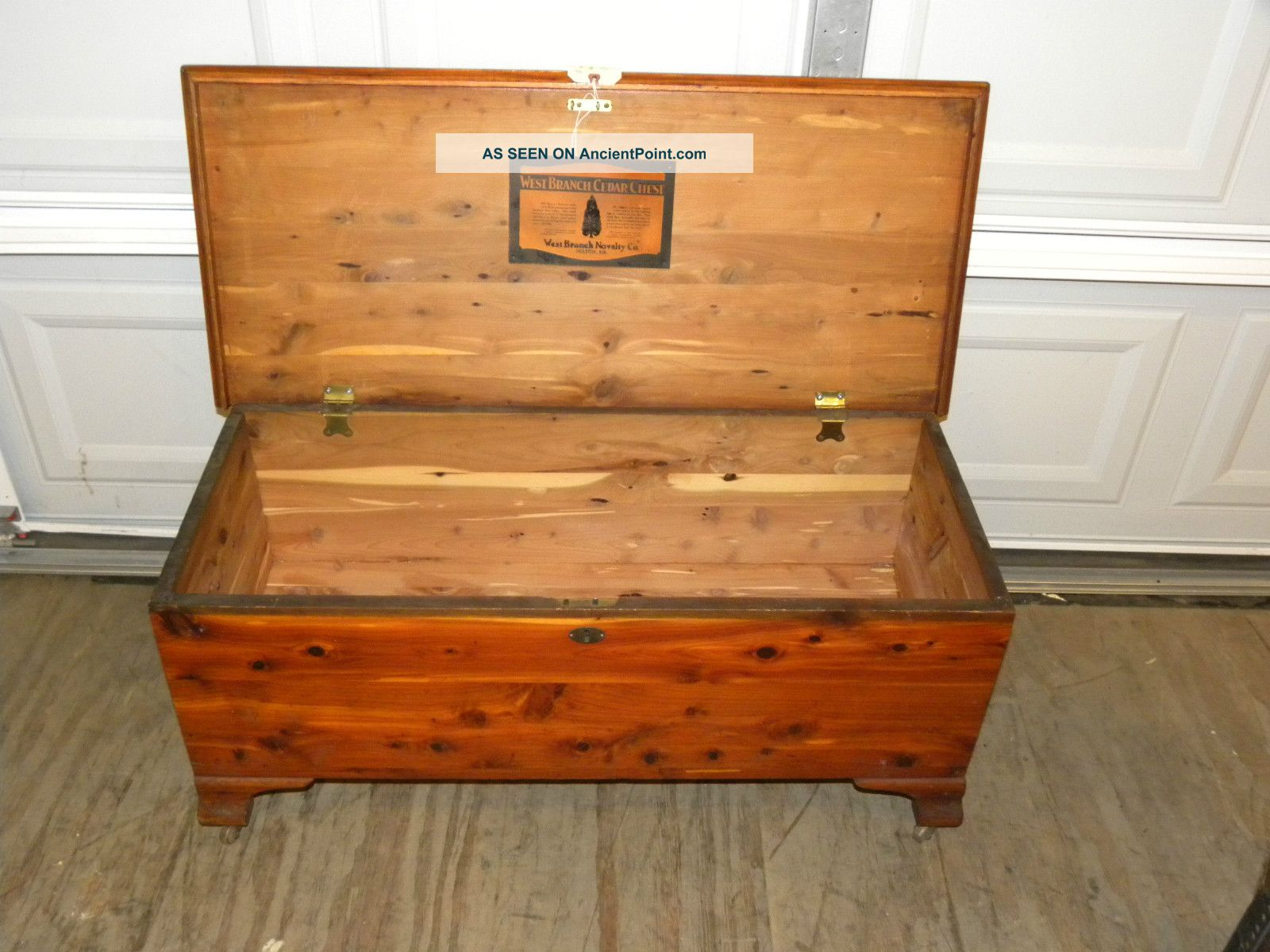 Antique West Branch Solid Cedar Bedroom Blanket Hope Chest ...