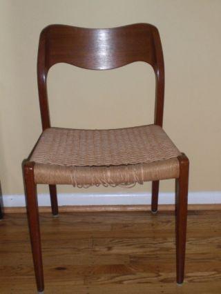 Mid Century Danish Modern Chair Eames Era Niels Moller? photo
