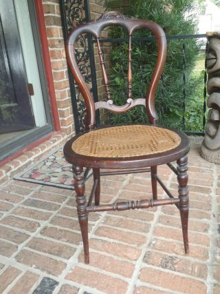 Antique Old Side Hall Bedroom Chair Estate Find photo