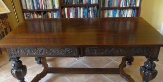 Rare 19th Century European Partners Desk. photo