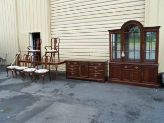 50567 Pennsylvania House 9 Pc.  Dining Room Set China Buffet Table + 6 Chairs photo