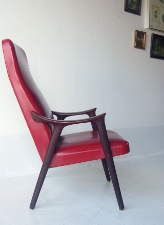 Mid Century Danish Modern Rosewood Lounge Chair Dux Eames Vintage Furniture photo