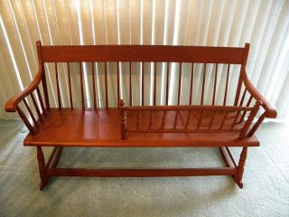 Antique Southern Mammy Rocker Bench Ciria 1870 photo