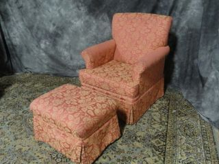 Designer French Club Chair And Ottoman photo