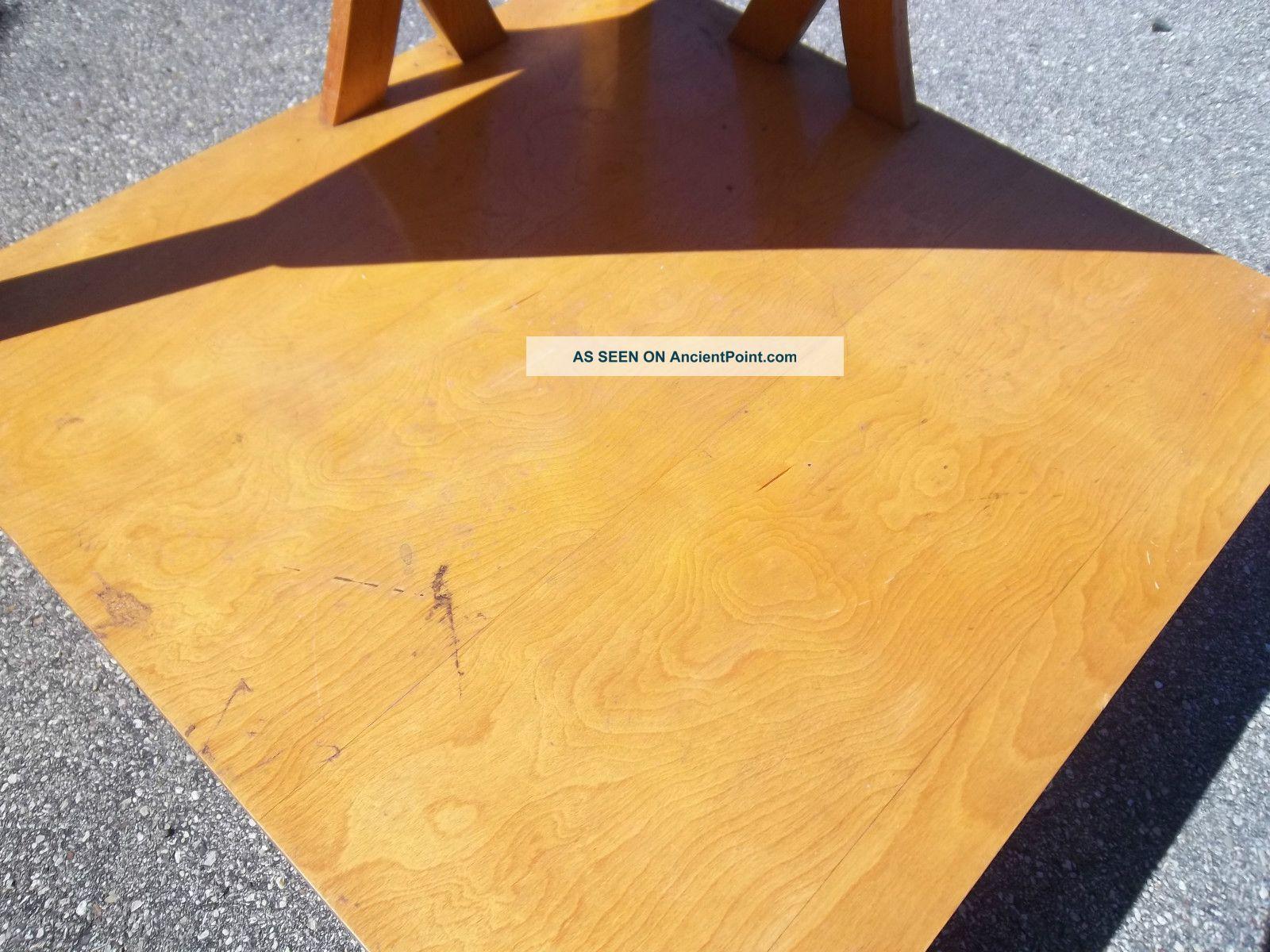 vintage blonde corner end accent table heywood wakefield era