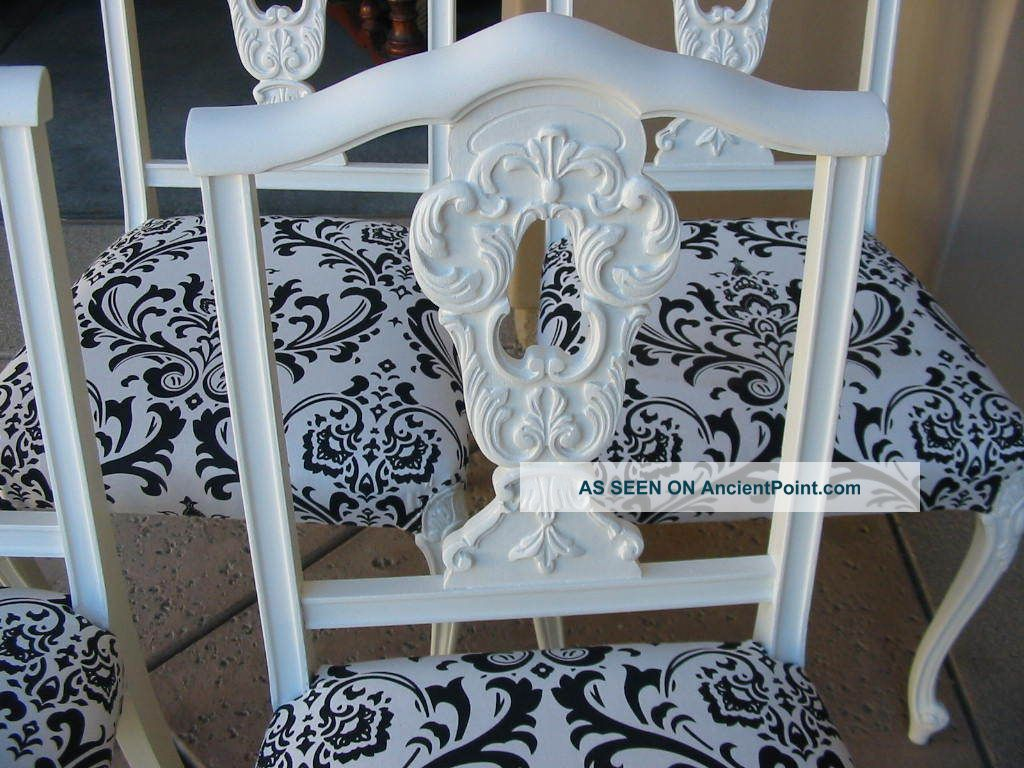 Similiar Black And White French Dining Set Keywords – Damask Dining Room Chairs