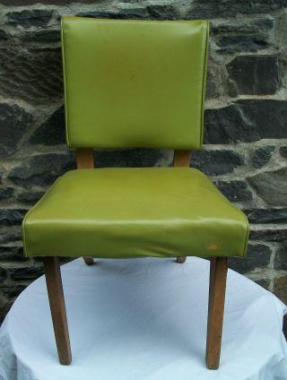 Vtg Lime Green 50 ' S Atomic Viking Artline Vinyl Chair Mid Century Modern,  Wow photo