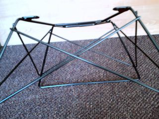 Eames Cat ' S Cradle Rod Low Base Black For Heman Miller Shell photo