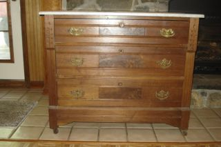 Antique Dresser W/ Mirror photo