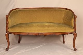 Antique 20th Century French Louis Xv Style Settee Sofa Canapé Loveseat photo