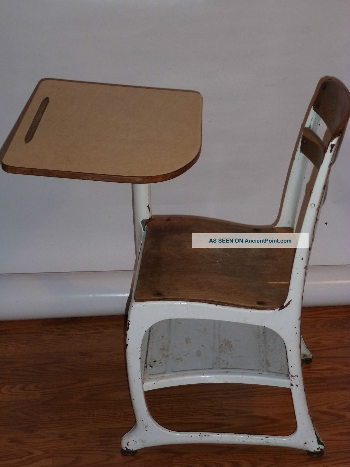 Vintage Child Metal School Desk Wood 1200 x 1600