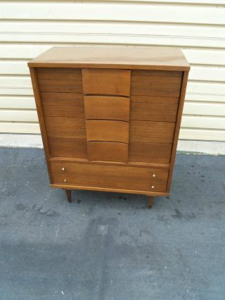 50272 Mid Century Modern High Chest Dresser photo