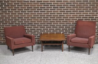 Kroehler His And Hers Club Chairs Mid Century Modern Vintage Eames Paul Mccobb photo