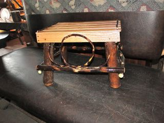 Adirondack Style Hickory And Oak Foot Stool photo