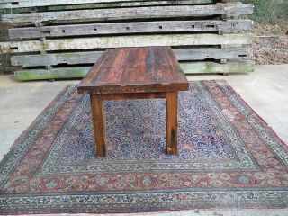 Antique (re - Claimed Wood) Heart Pine Reprod.  Table photo