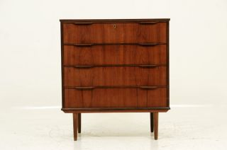Danish Modern Teak Four Drawer Dresser photo